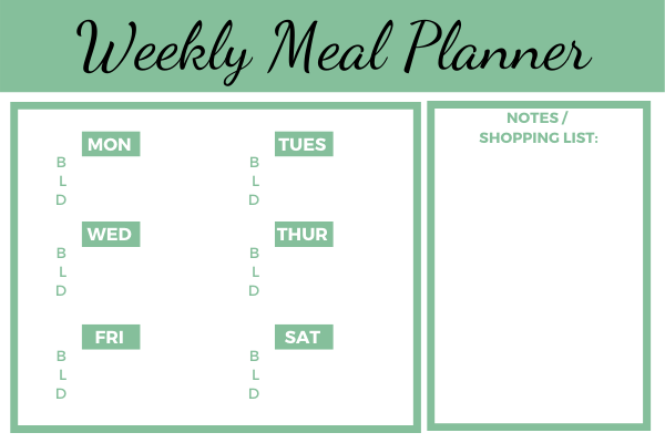 lose weight meal planner