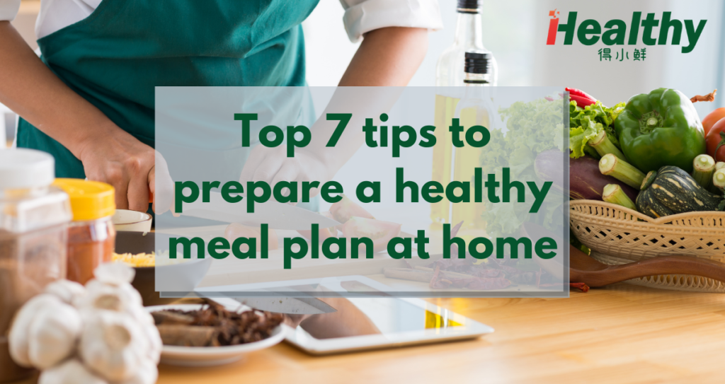 Healthy meal plan at home